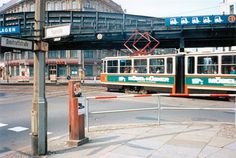 All sizes | East Berlin 1990 - Electric Tram At Dimitroff Straße. | Flickr - Photo Sharing! #1990 #berlin #east