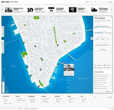 repponen: NY City Guide #map #interface #guide