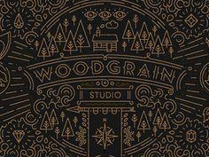 Woodgrain Studio branding