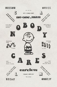 NOBODY CARES Poster Design