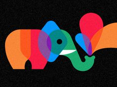 Playful Pachyderm by Chris Parks #illustration #parks #chris #elephant