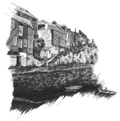 Zoe's Illustrations || Boat Studio #zoe #barker #drawing #illustration #boat #pencil