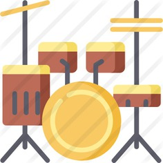 See more icon inspiration related to music and multimedia, drum set, cymbal, percussion instrument, musical instrument, orchestra, cymbals, drums and music on Flaticon.