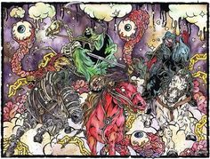 4Horsemen_large.jpg (JPEG Image, 655x500 pixels) #illustration #ink #watercolor