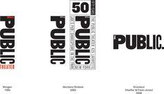 public theatre nyc #logo #font #pentagram