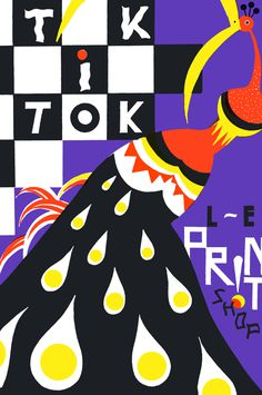 Tik - Tok, la Print Shoop, Paweł Mildner #illustration #color #chaos #graphic #composition