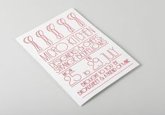 Micro Kitchen - Projects - A Friend Of Mine #print #food #typography