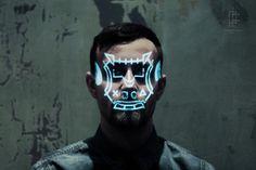 sekigan #scan #face #light #symbol
