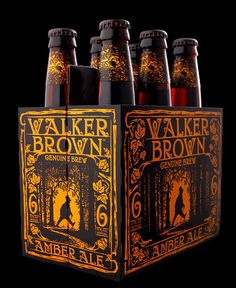 Walker Brown Beer Packaging #packaging #beer #label #bottle