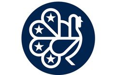Americandesignclub 1200 xxx #circle #lines #peacock #american #bird #symbol #logo #outline