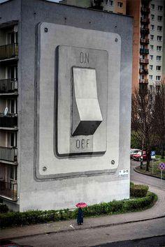 CJWHO ™ (The Street Art of Escif On Off (Katowice,...) #design #illustration #art #street art #poland #escif #off #on #katowice