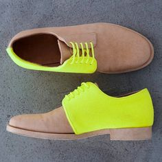 neon sneaks #fashion #shoes #neon