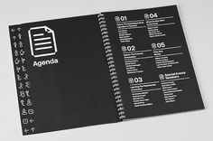 Conference schedule in the Summit Guide. #binding #guide #event #book #identity
