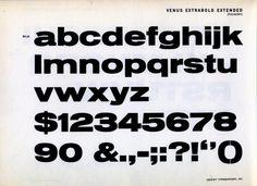 Venus Extrabold Extended font specimen #type #specimen