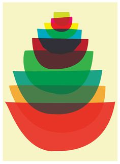 Image of Bowl Stack #stack #overlay #colors #bowl