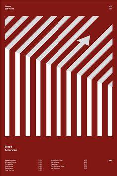 swissritual.ca #swissritual #graphic #design #minimal #music #grid #poster #swiss #illustration #JimmyEatWorld