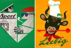 grain edit · Vintage Posters by Donald Brun #layout #vintage