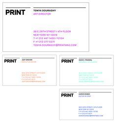 PRINT Identity #dye #business #branding #lab #print #cards #magazine