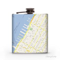 Google Maps (Customize a Location) 6oz Liquor Hip Flask #flask #cartography #custom #google #maps