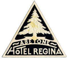 Hotel Regina #logo #triangle #tree #hotel #pin