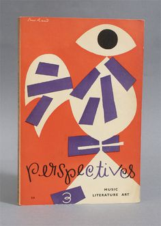 Paul Rand and Alvin Lustig Collab #modernism #book cover #eye #alvin lustig #paul rand #sleeve #book jacket #perspectives