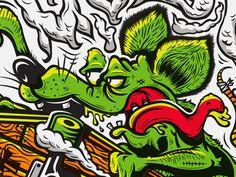 WIP II Kendrick Kidd #illustration #rat fink #kendrick kidd