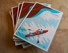 HORS PISTES Book&exhibition #canoe #illustration #nature