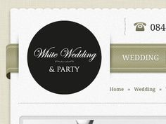 Dribbble - Wedding Ribbon Navigation by Will Barron #logo #web