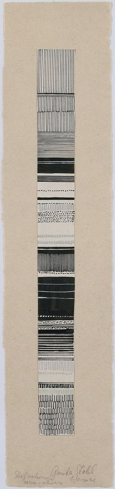 Gunta Stölzl - Watercolor and ink fabric design, 1919–1925. Bauhaus Archive. #gunta stlzl