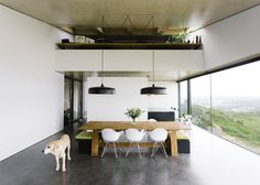 Varatojo House in Portugal by Atelier Data appears windowless #interior #eames #dog