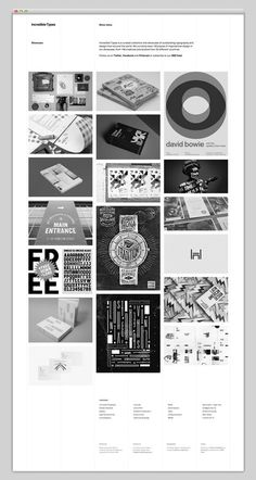 Incredible Types #design #website #grid #layout #web