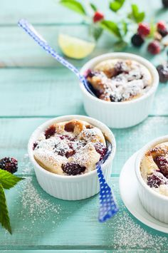 AN EASY RECIPE FOR BLACKBERRY LIME CLAFOUTIS