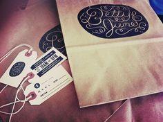 design work life » cataloging inspiration daily #betty #ryan #tag #bags #june #feerer #logo