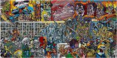 Gudmundsson Gudmundur, Tuol Sleng S.21, For Pol Pot, painting Peinture glycérophtalique sur toile 3000x6000mm 1993 #pot #pol #art