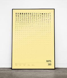 NKPG - a deconstructed map of Norrköping #deconstruction #map #order #norrkping #poster