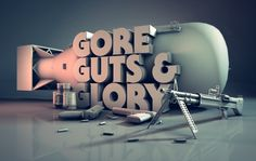 3D Reel Stuart D Wade • Visual Communicator #gore #guts #glory #dope #type #3d