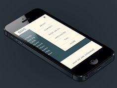 Mobile Menu #responsive #design #tablet #mobile #web