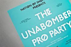 Unabomber Party - Workshop Graphic Design & Print - Leeds, West Yorkshire #type #identity #workshop