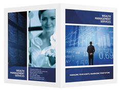 Wealth Management Services Presentation Folder Template (Front and Back View)