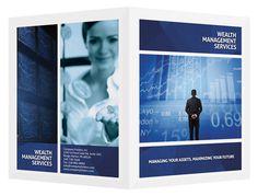 Wealth Management Services Presentation Folder Template #financial #psd #photoshop #finance #folder