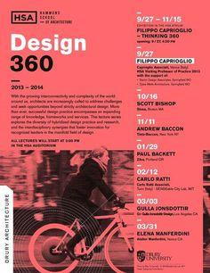 2013 14 Lecture Series at Drury University, Hammons School of Architecture. Photo by Max Tomasinelli   © SENSEable City Lab, MIT. Poster De