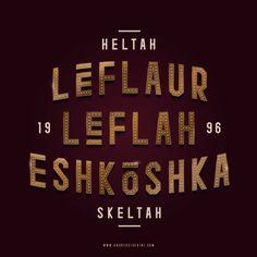 """""""Leflaur Leflah Eshkoshka"""" #typography #hiphop #heltahskeltah"""