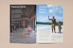 Tangent ­— Glasgow 2014 Ticketing Guide #guide #print #grid #spread #layout #brochure