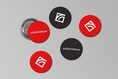 Audiogram by Philippe Gauthier and DeuxHuitHuit #red #pin