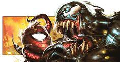 Random panel... by Dave Wilkins on deviantART #spiderman #venom #dave #wilkins