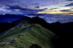 The night will comein Mt. Hehuan