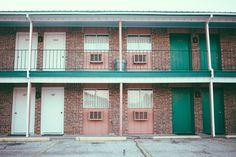 emily blincoe //thuglifeforevs #door #color #lovely #walls #motel #bricks #green