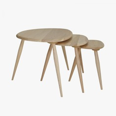 Originals Elm & Beech Nest Of Tables by Lucian R Ercolani for ercol.