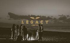 LEGACY Cap Co. // Branding on Behance #logomark #branding #apparel #retro #texture #brand #identity #gold #logo #trend #style