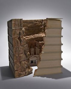 Whiteboard Journal • Carved Books by Guy Laramee